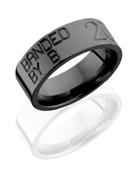 Black Zirconium Duck Band Ring 8mm
