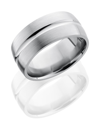 Titanium 10mm Domed Band with Concave Center