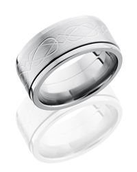 Titanium 10mm Flat, Spinner Band with Celtic Pattern