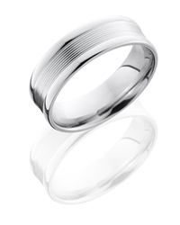 Cobalt Chrome 7mm Band with Rounded Edges