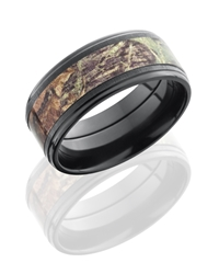 MOSSYOAK® Black Zircon Cross Satin Polish CAMO Band.